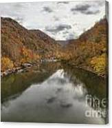 New River Fall Reflections Canvas Print
