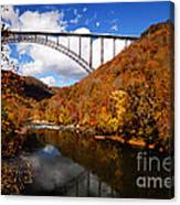 New River Gorge Bridge In Autumn Canvas Print