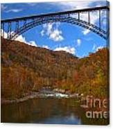 New River Gorge Fiery Fall Colors Canvas Print
