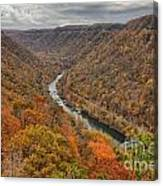 New River Gorge Overlook Fall Foliage Canvas Print