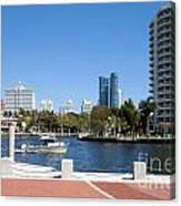 New River In Fort Lauderdale Canvas Print
