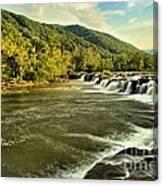 New River Landscape Canvas Print