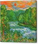 New River Rush Canvas Print