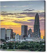 New South Summer Sunset Canvas Print