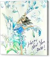 New Year 2010 Canvas Print