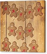 New Year Gingerbread Canvas Print