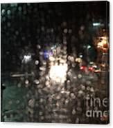 New Year Heavy Rainstorm 2015 Canvas Print