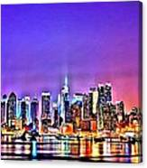 New York At Night Canvas Print