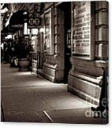 New York At Night - The Phone Call - Theatre District Canvas Print