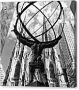 New York - Atlas Statue Canvas Print