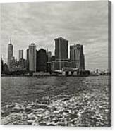 New York Battery Park View Canvas Print