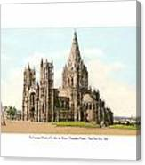 New York City - The Cathedral Church Of St John The Divine - 1915 Canvas Print