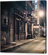 New York City Alley At Night Canvas Print