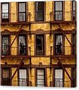New York City Apartment Building Study Canvas Print