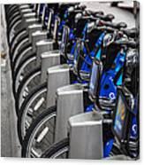 New York City Bikes Canvas Print