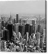 New York City Black And White Canvas Print