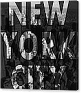 New York City - Black Canvas Print