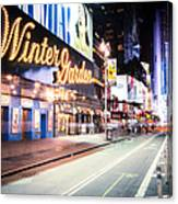 New York City - Broadway Lights And Times Square Canvas Print