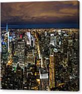New York City By Night Canvas Print