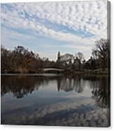 New York City Central Park Bow Bridge Quiet Reflections Canvas Print