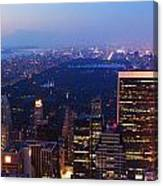 New York City Central Park Manhattan Panorama Canvas Print