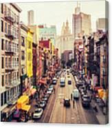 New York City - Chinatown Street Canvas Print