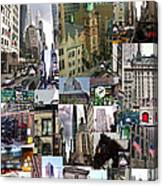 New York City Collage Canvas Print