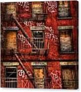 New York City Graffiti Building Canvas Print