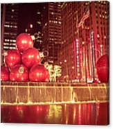 New York City Holiday Decorations Canvas Print
