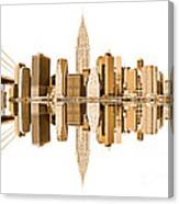New York City Landmarks - Usa Canvas Print