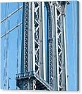 New York City Manhattan Bridge And Skyline Canvas Print