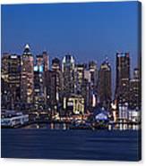 New York City Panorama At Dusk Canvas Print