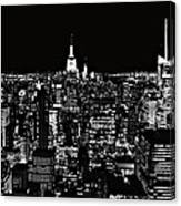 New York City Skyline At Night Canvas Print