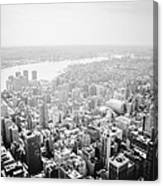 New York City Skyline - Foggy Day Canvas Print