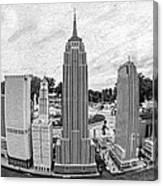 New York City Skyline - Lego Canvas Print