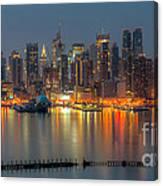 New York City Skyline Morning Twilight Xii Canvas Print