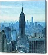 New York City Skyline Summer Day Canvas Print