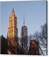 New York City Skyline Through The Trees Canvas Print