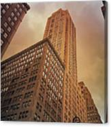 New York City - Skyscraper And Storm Clouds Canvas Print