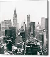 New York City - Snow-covered Skyline Canvas Print