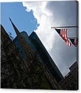 New York City Stars And Stripes Canvas Print