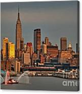 New York City Sundown On The 4th Canvas Print