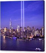 New York City Tribute In Lights World Trade Center Wtc Manhattan Nyc Canvas Print