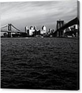 New York City - Two Bridges Canvas Print