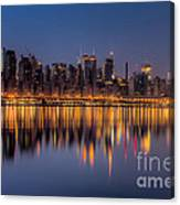 New York City West Side Morning Twilight I Canvas Print