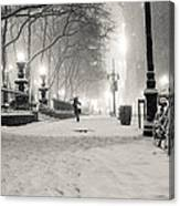 New York City Winter Night Canvas Print