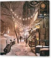 New York City - Winter Snow Scene - East Village Canvas Print