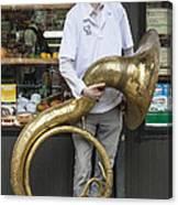 New York Dance Parade 2013 Musician With Sousaphone Canvas Print