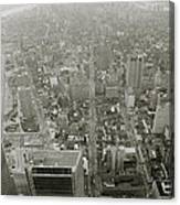 New York From The Trade Towers Canvas Print