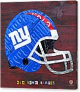 New York Giants Nfl Football Helmet License Plate Art Canvas Print